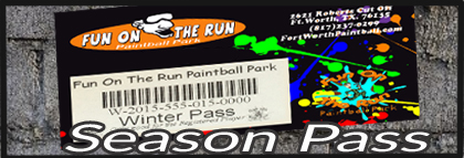 Season Pass for Paintball games in Fort Worth
